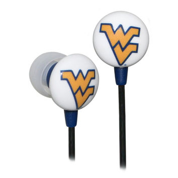 Logo Earbuds - West Virginia Mountaineers