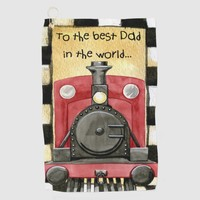 Father's Day Greeting Golf Towel