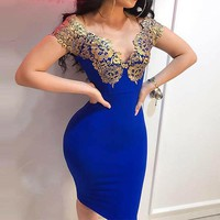 Womens Summer Party Dress Woman Sexy V-Neck Gold Elegant Dress Ladies Casual Slim Bodycon Dresses Woman Strappy Backless Dresses