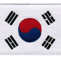 South Korea Flag Embroidered Patch Korean Iron-On National Emblem