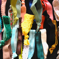 Wholesale Lot of 25 Hair Ties Mix Colors Textures by emmaflhair