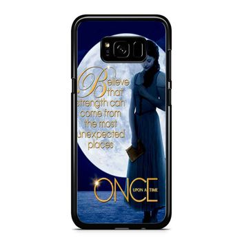 Once Upon A Time Belle Full Moon Samsung Galaxy S8 Case