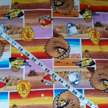 Quilters fabric Angry Bird Star Wars cotton print quilt sewing material crafting project BTY by the yard Angry bird fabric Star Wars