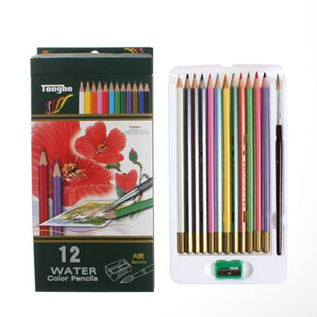 12 Watercolor Painting Pencils