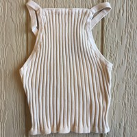 Brittany Knit Crop Top in Sand