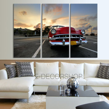 Chevrolet Car Canvas Print - Old Cars Print on Canvas 3 Panel