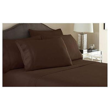 Regal Comfort Bamboo Luxury 2100 Series Hotel Quality Sheet Twin Chocolate