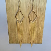 Disco Fringe Earrings – Gold