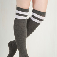 Sport and Sweet Thigh Highs in Stone | Mod Retro Vintage Socks | ModCloth.com