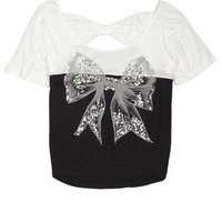 Sequin Bow Tee