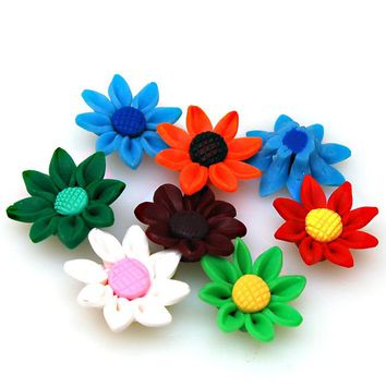 High quality handmade polymer clay flower,30mm fimo flower,assorted fimo beads for jewelry supplies,fimo flower beads/charms