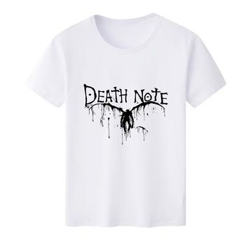 Anime T-shirt graphics 2018 New Arrival Mens T Shirt for Comic Anime Death Note Logo O-Neck Printed T-shirts Short Sleeve Tee Shirts AT_56_4
