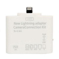 New IOS 8.1 5in1 Card Reader Combo Lightning to USB SD Card MicroSD Camera Adapter for iPad / Mini / Air