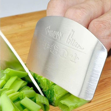 Stainless Steel Finger Hand Protector Personalized Design Chop Safe Slice Knife [8045589383]