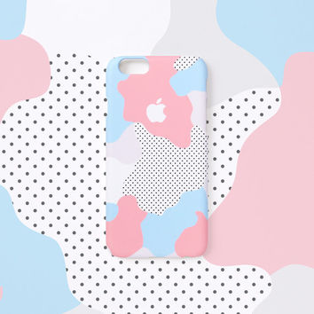 iPhone 6s+ case - Pastel Geo - iPhone 6 case, iPhone 6s case, iPhone 6 Plus case, Good Luck Gold Sticker, non-glossy hard shell C17