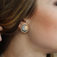 The Tortoise Shell Studs