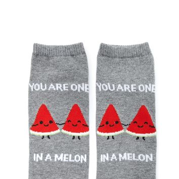 You Are One In A Melon Socks