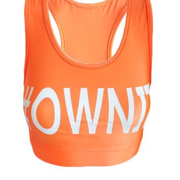#OWNIT - Orange - Beach Fitness Crop Top