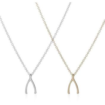 Wishbone Dainty Necklace