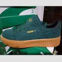 PUMA Women Casual Running Sport Shoes Sneakers Green