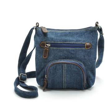 2016 Handbags Hobos Fashion Womens Shoulder Bag Denim Fabric Cowboy Crossbody Satchel Handbag Messenger Bag mochila feminina