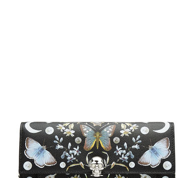 Alexander McQueen - Nocturnal Print Calf Leather Skull Wallet on Chain