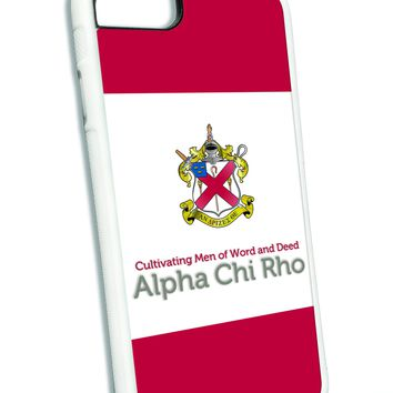Alpha Chi Rho iPhone Case White