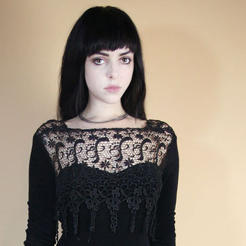 90's Teen Witch Dress With Crochet Lace Fringe! (Fauve&Hunter)