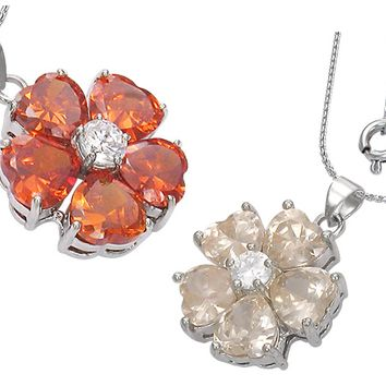 "ON SALE - ""Buttercup"" Cubic Zirconia Flower Pendant Necklace"