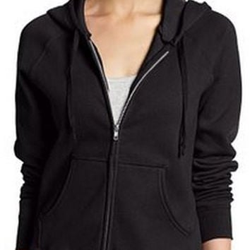 Zippered Front Pocket Sweater with Hood