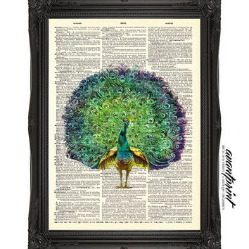 Show Your True Colors Mixed Media Original Print on Unframed Upcycled Bookpaper