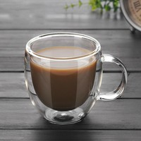 250ml Double Wall Glass Coffee Cup