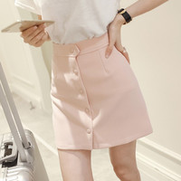PALE PINK A-LINE SKIRT