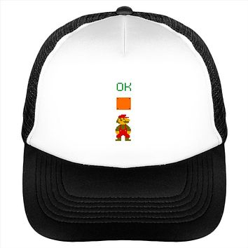 Ok Mario Man Up Video Game Gamer Hat