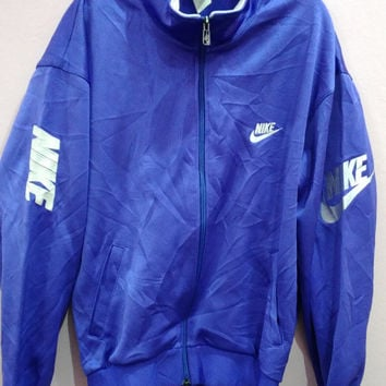 RARE Vintage NIKE Swoosh grey Tag Made in Japan Track trainer Sport swag hip hop indie Jacket L