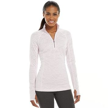 Tek Gear® Mesh Quarter-Zip Raglan Workout Jacket - Women's