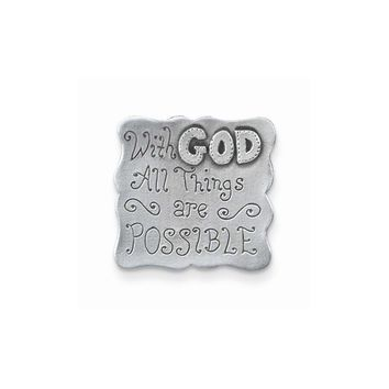 Harbor House Lead-free Metal With God Visor Clip - Perfect Religious Gift