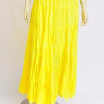 Handmade Yellow Cotton Skirt