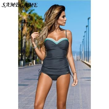 One Piece Swimsuit Underwire Swimwear Women Summer Bathing Suits