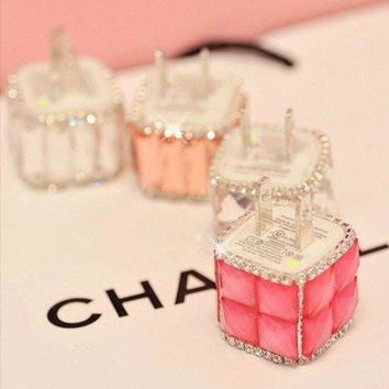 CREYUP0 Diamond Bling Quick USB Mobile Phone Charger Adapter