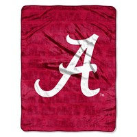 NCAA Alabama Crimson Tide 46-Inch-by-60-Inch Micro-Raschel Blanket, Grunge Design