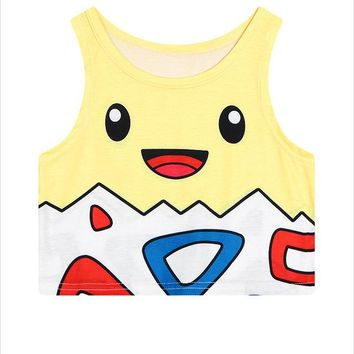 Women's Pokemon Yellow Togepi Cropped Top
