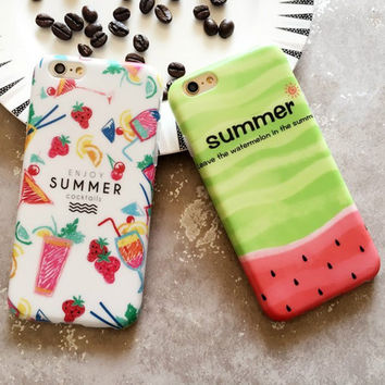 2 Pcs Cool Summer Case for iPhone