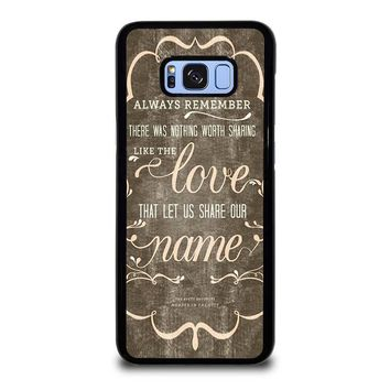 THE AVETT BROTHERS QUOTES Samsung Galaxy S8 Plus Case Cover 6b824305c6