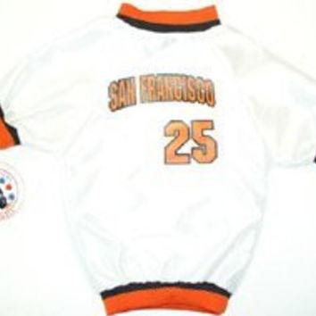 Sports Enthusiast San Francisco #25 Baseball Mesh Dog Jersey (Medium)