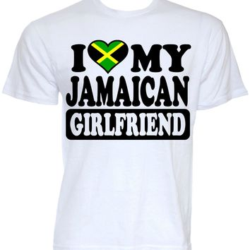 MENS FUNNY COOL NOVELTY JAMAICAN GIRLFRIEND JAMAICA FLAG SLOGAN GIFTS T-SHIRTS Men Casual Short Sleeve T Shirts Top Tee