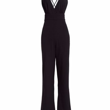 Casual Jumpsuit Women Black Summer Spring Loose Flare Rompers Backless Sexy Street Bell Bottoms Goth Female Jumpsuits