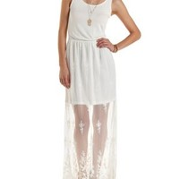 Knit & Lace Maxi Dress by Charlotte Russe