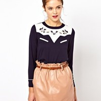 Dahlia Smock Top with Western Embroidery at asos.com