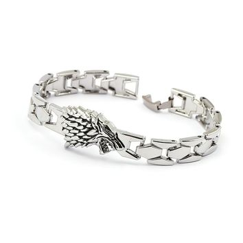 Game of Thrones Bracelet Song of ice fire Stark Chain Link Charm Bracelets Bangle Cosplay Jewelry Men Women